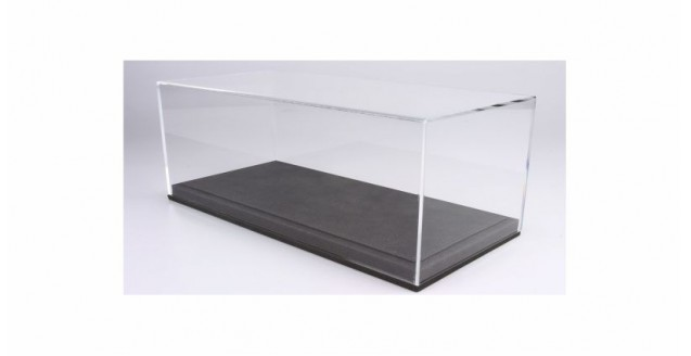 Grey Leatherette Base & Clear Display Case for 1:18 Scale BBR VET1803A1