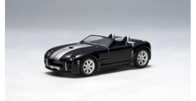 Ford Shelby Cobra concept Ebony with Bright Argent stripes 1:64 AUTOart 20542