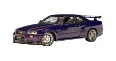 Nissan Skyline R34 GTR Purple 1:18 AUTOart 77304