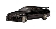 Nissan Skyline R34 GTR V-Spec 11 Black Pearl 1999 1:18 AUTOart 77334
