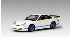 Porsche 911 GT3 RS White / Blue stripe 1:64 AUTOart 28032