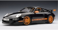 Porsche 997 GT3 RS Black with Orange stripes 1:12 AUTOart 12116