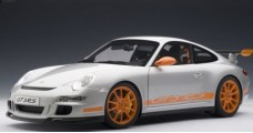 Porsche 911 (997) GT3 RS Silver/Orange 1:12 AUTOart 12119