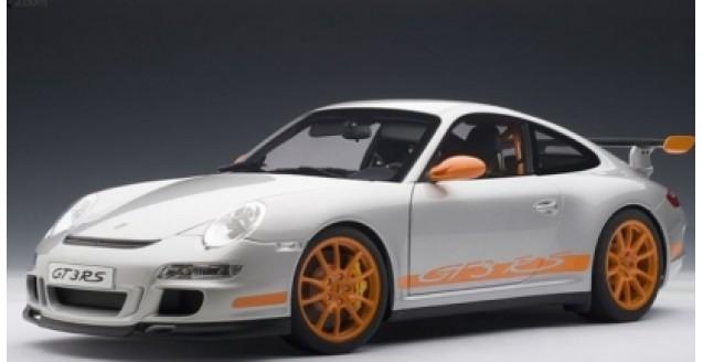 Porsche 911 (997) GT3 RS Silver/Orange 1:12 AUTOart 12119 ...