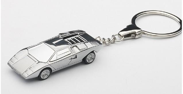 Lamborghini Countach Lp400 Keychain Chrome 1:87 AUTOart 41608