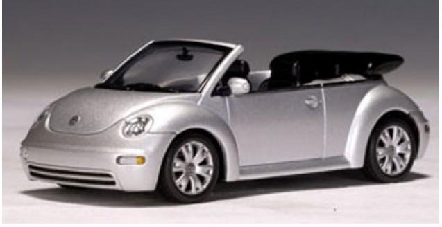 Volkswagen Beetle Cabrio Silver 1:43 AUTOart 59758
