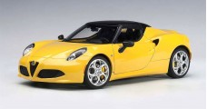 Alfa Romeo 4C Spider Composite Yellow 1:18  AUTOart 70143