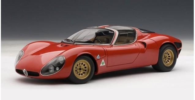 AUTOart Alfa Romeo Stradale Prototype Red - Alfa romeo scale models