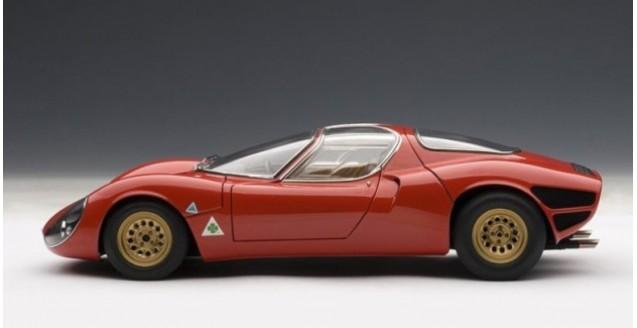 Autoart 70191 Alfa Romeo 33 Stradale Prototype Red 1 18