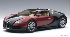 Bugatti EB 16.4 Veyron 2006 Black / Dark Red 1:18 AUTOart 70909