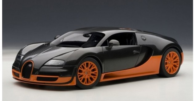 Bugatti Veyron 16.4 Sport black/orange 1:18 AUTOart 70936
