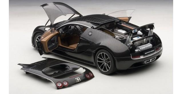 Autoart 70937 Bugatti Veyron Super Sport Carbon Black 1 18