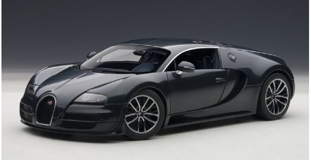 autoart 70938 bugatti veyron 16 4 super sport dark blue 1 18. Black Bedroom Furniture Sets. Home Design Ideas