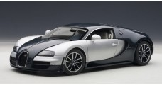 Bugatti Veyron 16.4 Super Sport Dark Blue / Silver White Doors 1:18 AUTOart 70939