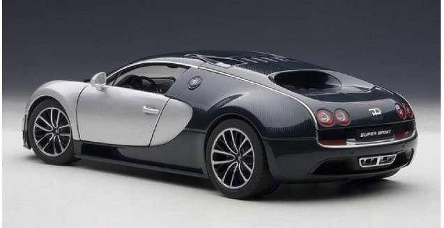 autoart 70939 bugatti veyron 16 4 super sport dark blue 1 18. Black Bedroom Furniture Sets. Home Design Ideas