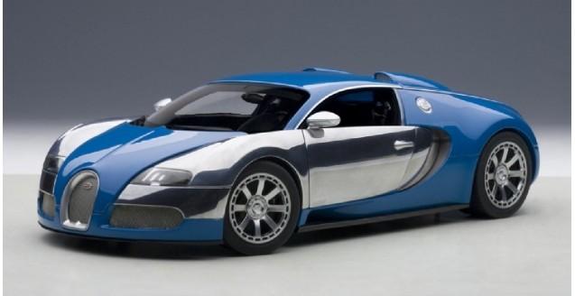 autoart 70956 bugatti eb veyron 16 4 blue 1 18. Black Bedroom Furniture Sets. Home Design Ideas