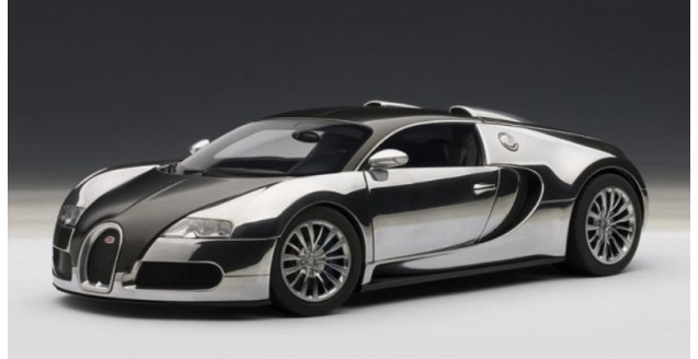 autoart 70966 bugatti eb veyron 16 4 pur sang black chrome 1 18. Black Bedroom Furniture Sets. Home Design Ideas