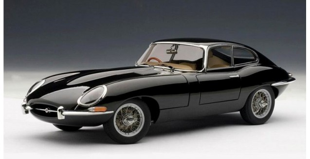 Jaguar E-Type Series I Coupe 3.8 Black 1:18 AUTOart 73611