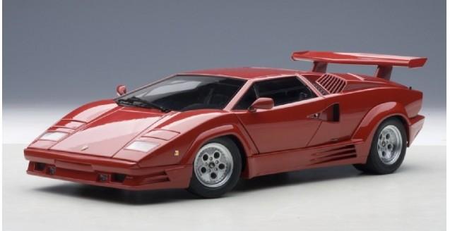Autoart 74534 Lamborghini Countach 25th Anniversary Red 1 18