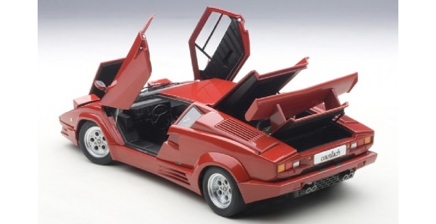 autoart 74534 lamborghini countach 25th anniversary red 1 18. Black Bedroom Furniture Sets. Home Design Ideas