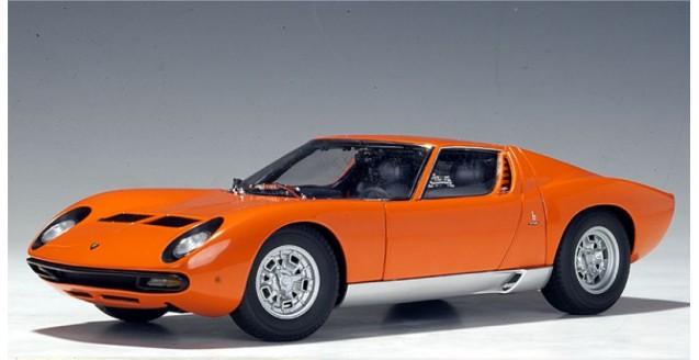 Autoart 74542 Lamborghini Miura Sv Orange 1 18