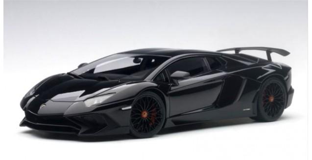 Autoart 74556 Lamborghini Aventador Lp750 4 Sv 2015 Black 1 18