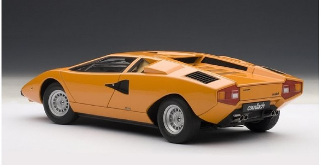 Autoart 74647 Lamborghini Countach Lp400 Orange 1 18