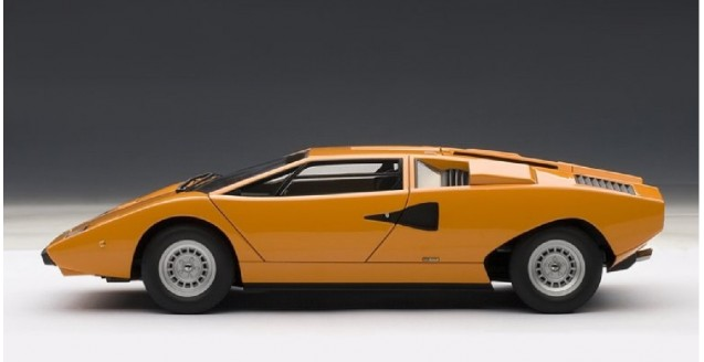 Autoart 74647 Lamborghini Countach Lp400 Orange 1 18
