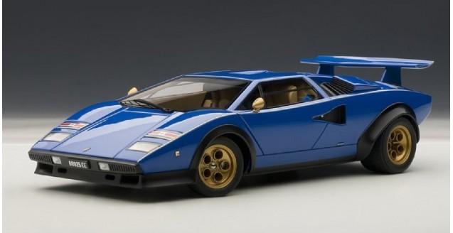 Autoart 74652 Lamborghini Countach Walter Wolf Edition Blue 1 18