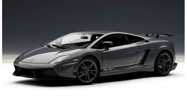 Autoart 74657 Lamborghini Gallardo Lp570 4 Superleggera Grey 1 18