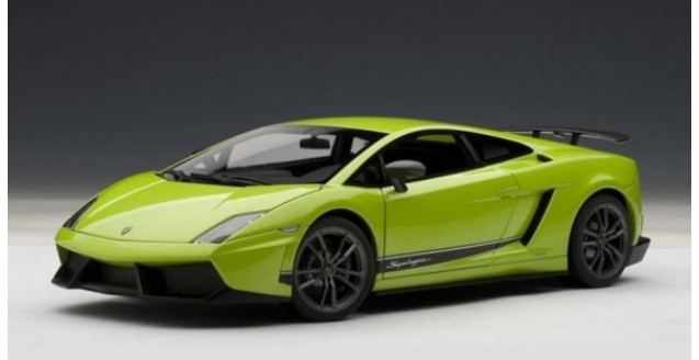 Marvelous Lamborghini Gallardo Superleggera Green 1:18 AUTOart 74659 ...
