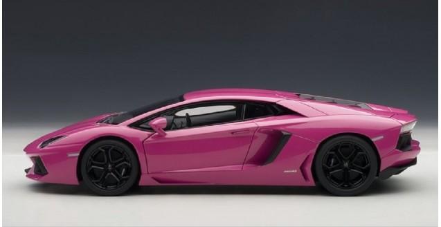 lamborghini aventador lp700 4 pink 118 autoart 74660