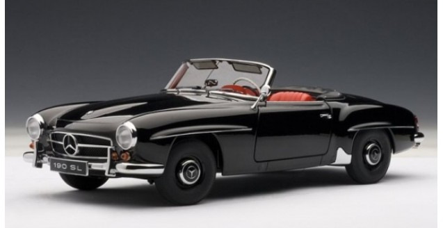 Mercedes-Benz 190SL Black 1:18 AUTOart 76118
