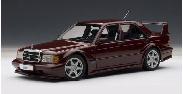 Mercedes-Benz 190 E 2.5 16V EVO 2 (Barolorot) Burgundy 1:18 AUTOart 76132