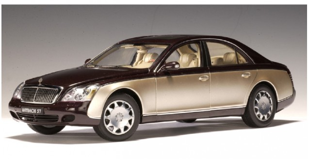 autoart 76153 maybach 57 swb (ayers rock red / rocky mountains brown