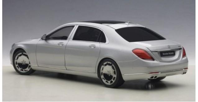 autoart 76292 mercedes maybach s klasse s600 swb silver