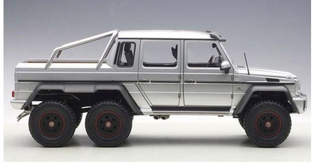 autoart 76301 mercedes-benz g63 amg 6x6 2013 silver 1:18