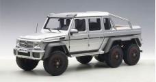 Mercedes-Benz G63 Amg 6x6 2013 Silver Composite 1:18 AUTOart 76301