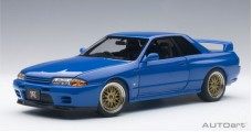 Nissan Skyline GT-R (R32) Tuned Version 1991 Blue 1:18 AUTOart 77415
