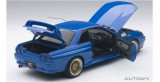 Nissan Skyline GT-R (R32) Tuned Version 1991 Blue 1:18 AUTOart 77415