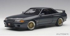 Nissan Skyline GT-R (R32) Tuned Version Gray Metallic 1:18 AUTOart 77417
