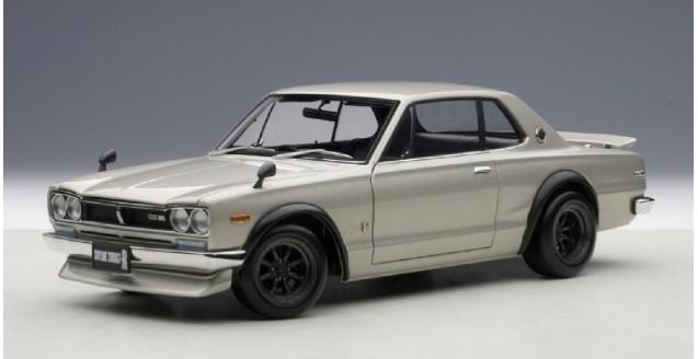 Nissan Skyline GT-R KPGC10 Tuned Version Silver 1:18 AUTOart 77441