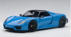 Porsche 918 Spyder WEISSACH PACKAGE Blue 2013 1:18  AUTOart 77924