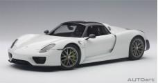 Porsche 918 Spyder WEISSACH PACKAGE Gloss White 2013 1:18 AUTOart 77926