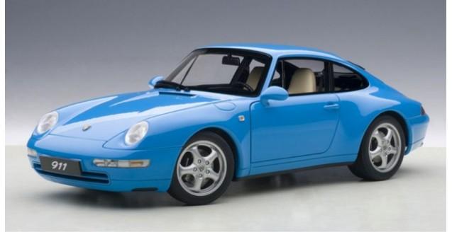 Porsche 911 993 Carerra 1995 Blue 1:18 AUTOart 78133