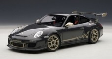 Porsche 911 997 GT3 RS Black/Gold 1:18 AUTOart 78142