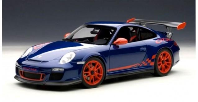 Autoart 78144 Porsche 911 997 Gt3 Rs 3 8 2010 Blue Metallic Red 1 18