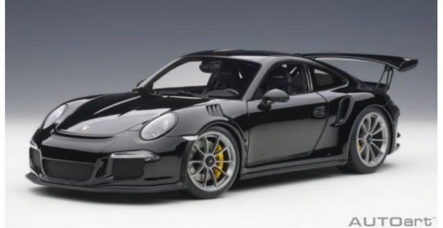 Autoart 78164 Porsche 911 991 Gt3 Rs Gloss Black 1 18