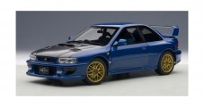 Subaru Impreza 22B with Carbon Fibre Bonnet Upgraded 1998 Blue 1:18 AUTOart 78603