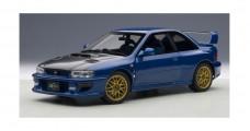 Subaru Impreza 22B with Carbon Fibre Bonnet Upgraded 1998 Blue 1:18 AUTOart 78603